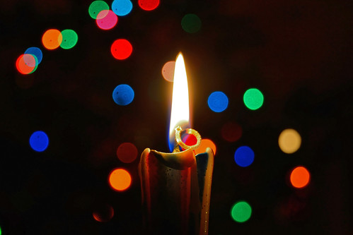 Bunter Kerzenschein / Colourful candlelight