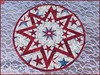 814_Patriotic Stars on Wood Table Topper Red (QuiltinWaYnE) Tags: quilted handmade kitchentabledecor diningtabledecor coffeetabledecor tablemat tabletopper tabledecor quiltedtabletopper quiltsy etsyseller etsyquilter etsy etsyshop etsyhandmade qqqetsy quiltedtabledecor tablelinen handmadequilt tablequilt