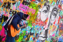 The Lennon Wall (Prague) (Nicolay Abril) Tags: praga praha prag prague prága česko českárepublika républiquetchèque tchéquie repúblicacheca chequia czechrepublic czechia csehország csehköztársaság tschechien tschechischerepublik johnlennon wall muro mur graffiti urbanart lennonwall