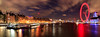 The London Eye from Westminster Bridge (Aethelweard) Tags: london england unitedkingdom gb panorama eye river thames nightshot longexposure sky red purple yellow efs18135mmf3556isstm