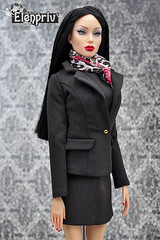"""Beautiful fashions from """"Little black dress"""" collection by ELENPRIV in Etsy store! (elenpriv) Tags: sybarite vivir superfrock superdoll little black dress elenpriv elena peredreeva 16inch fashion doll handmade clothes"""