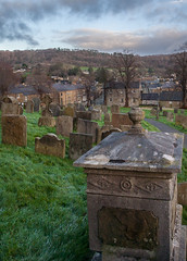 Bakewell from All Saints Church. (MickyB1949) Tags: derbyshire bakewell church winter landscape graves allsaintschurch
