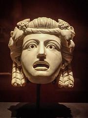 Marble Theater Mask from a peristyle garden in Pompeii Roman 1st century CE (mharrsch) Tags: mask sculpture theater comedy roman oscillium peristyle male pompeii 1stcenturyce ancient omsi portland mharrsch