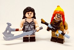 River and Jayne (Barratosh#2) Tags: lego minifigure firefly serenity joss whedon whedonverse river tam jayne cobb badger niska saffron malcolm reynolds browncoats space western