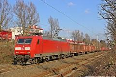 DB 145 031 am 17.02.2016 mit einem gemischtem Güterzug in Herten-Mitte (Eisenbahner101) Tags: