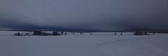 blizzard coming.... (Nicky Hauptmen) Tags: schnee himmel dorf strase langlauf spuren baum schneesturm windräder snow sky lines tree blizzard street landscape landschaft