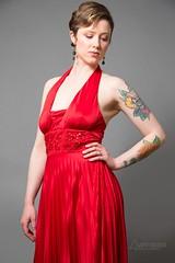 Anna Lee (austinspace) Tags: woman portrait spokane washington model shorthair dress necklace earrings shadow