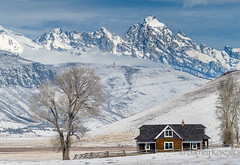 The Miller House and the Grand (BarneyK) Tags: jacksonhole millerhouse grandteton