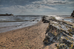 Reaching out to sea (M McM) Tags: beach rocks lines line seaweed sky clouds hdr anstruther fife scotland canoneos760d