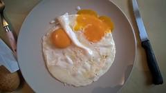 Headshot eggs (Gautier SENZACHE) Tags: oeuf plat egg 830 nokia lumia nokialumia830 nokialumia lumia830 nokia830 assiette plate fourchette couteau knife fork pain bread headshot