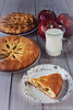 Still life with homemade cakes. (Yuliannaja) Tags: food baked pastry homemadecakes bread homemadebread apples fruit red applepie pattern cakepattern woodentable rustic stilllife background delicious tastycake beauty beautifully plate inhouse house fresh healthyfood breakfast lunch dinner day morning evening afternoontea fortea forcoffee with milk cup yuliannaja yuliyavolkova yuliyavolkovasimplesitecom