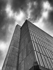Intrigue (Keith Midson) Tags: library building architecture hobart tasmania concrete sky clouds cloud iphone iphone7plus iphone7