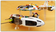 (peter-ray) Tags: spaziale nave veicle galaxy white fi shi figure mini minifigure alien corvet dreadnought nx2000 samsung fighter star astro ship space ray peter moc starfighter lego