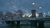 Winter Dawn Boston Public Gardens (michaelward245) Tags: bridge boston park bostoncommon dawn bostonpublicgarden lights christmas eerie dark gothic clouds ominous historic snowy winter lagoon