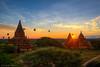 Temples of Bagan (Xversion1) Tags: horizon tháp flare khinhkhícầu sunrise sunset nature miếnđiện monument myanmar ray path bagan chùa fog sun đền balloon bulethi stupa travel cloud airballoon landscape trip sunlight plain burma temple sky
