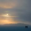 Swedish colors-3 (marcusholmqvist) Tags: sweden spark sparkstötting swedish tradition ice snow mälaren frozen lake sun fog foggy misty mist dimma snörök snö kallt cold couple walk hike utflykt