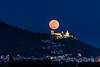 Luna llena de Enero sobre el castillo de Cullera (alcahazada) Tags: fullmoon moon landscape night castle lunallena luna paisaje nocturna castillo valencia cullera