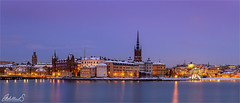 Stockholm Winter blues, Sweden (AdelheidS Photography) Tags: adelheidsphotography adelheidsmitt adelheidspictures scandinavia winter waterfront stockholm estocolmo suecia sweden sverige svezia zweden canoneos6d canonf4l2470mm capitalcity capital water riddarholmen snow cityscape citylights city cityview bluehour blauwuurtje blue