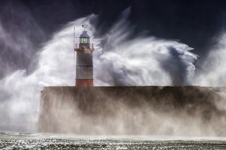 Storm Hit, Newhaven Lighthouse