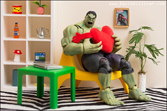 Even the Hulk shops at IKEA (Pikebubbles) Tags: incrediblehulk hulk davidgilliver davidgilliverphotography marvel marvellegends marvelcomics toys toy toyart miniature miniatures miniatureart miniart creative creativephotography canon toyphotographer toyphotography funny figurine actionfigure figurines ikea