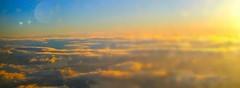 People we meet. (evakongshavn) Tags: light sunshine sunrise yellow goldenlight goldenscape golden blahblah words blahblahscape sunset sky blur snowglobe