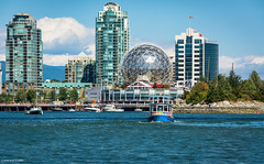 Science World - The Vancouver Aquabus/False Creek (SonjaPetersonPh♡tography) Tags: vancouver bc britishcolumbia burrardinlet granvilleislandpublicmarket canada nikon nikond5200 inlet ocean boating scienceworld aquabus falsecreek falsecreekferries waterscape cityscape vancouverskyline vancouverharbour downtownvancouver thevancouveraquabus