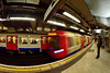 Mind the Gap (Geoff Henson) Tags: train tube people underground london blurred fisheye 1000v40f