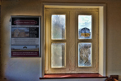 You've Been Framed (whosoever2) Tags: uk united kingdom gb great britain nikon d7100 train railway railroad february 2018 ribblehead window drs class66 66425 6z22 sellafield room