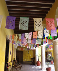 Carnaval Decorations - Campeche Yucatan Mexico (WanderingPJB) Tags: accumulation flickruploaded mexico yucatan campeche carnaval flags decoration