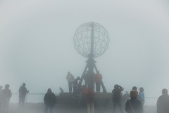 Nordkapp globe shrouded in fog, Honningsvåg Norway (Gail K E) Tags: nordkapp fog norway honningsvåg barentssea midnightsun monument arcticcircle northcape norge