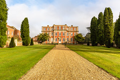 Chicheley Hall (PhredKH) Tags: architecture boroque buckinghamshire buildings canon canoneos5dmkiii canonphotography chicheleyhall countryhouse fredkh photosbyphredkh phredkh splendid statelyhomes uk outdoorphotography outdoors sky trees building grass tree road park