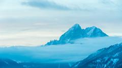 Mountain Blue (auqanaj) Tags: alps alpen südtirol alto adige luson lüsen peitlerkofel sass de putia dolomiti dolomites morgenstimmung dawn sonnenaufgang sunrise naur nature beauty wald himmel holz baum berg abhang landschaft schnee