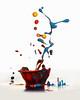 Exploding Paint Bowl (Wim van Bezouw) Tags: sony ilce7m2 paint drop highspeed pluto plutotrigger macro paintdrop
