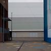 Spielraum und Sportraum (zeh.hah.es.) Tags: zurich zürich schweiz switzerland sporthalle sporthallehardau schulhaushardau hardau grau gray grey blau blue fassade façade facade