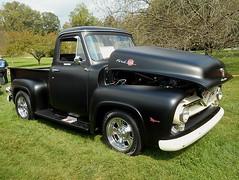 1955 Ford F-100 (splattergraphics) Tags: 1955 ford f100 pickup truck custom carshow hagleymuseum wilmingtonde
