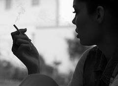 Cigarette Break (RickB500) Tags: portrait girl rickb rickb500 smoking sylvia cigarette