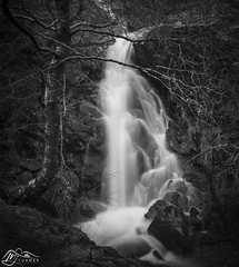 Dove Falls (►►M J Turner Photography ◄◄) Tags: dovefalls dovedale lakedistrict cumbria england uk unitedkingdom unesco worldheritagesite unescoworldheritagesite mono bw monochrome waterfall cascade