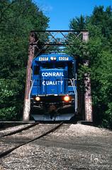 Crossing the Creek (jwjordak) Tags: b237r trees truss ohic bridge 4097 ohirail malvern ohio unitedstates us