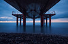 Under the pier (free3yourmind) Tags: under pier dock sea long exposure pebbles clouds cloudy sky sunset batumi georgia