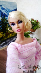 Sophia (Annabeth R.) Tags: doll dolls integrity toys fashion royalty fr poppy parker dark moon handmade dress outfit blonde portrait painting picture art easel drawing
