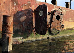 Slice Of Life (95wombat) Tags: old abandoned rotted decayed derelict rusty decrepit marinegraveyard arthurkill statenisland newyork