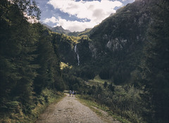 The trodden path (Niara Art) Tags: nature hiking green mountain mountains mountainscape path road people travel traveling journey clouds sky blue color colour tree waterfall outdoors walk walking branch twig grass field steirischerbodensee stone leisure leaves summer season austria österreich europe nikon