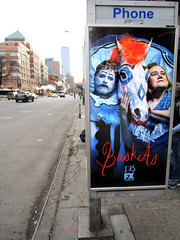 Baskets TV poster billboard Public Phone Booth 6133 (Brechtbug) Tags: baskets starring zach galifianakis louie anderson tv poster billboard phone booth 9th ave west side zmanhattan fx channel new comedy premieres tuesday january 23rd 10 pm nyc 2018 york city ad advertisement ads clown rodeo horse french humor
