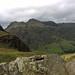 Langdale Pikes from Lingmoor Fell