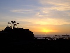 Sunset at Battery Point Lighthouse (BriarCraft) Tags: lighthouse ocean rock silhouette sky sunset