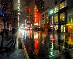 Vancouver night (janicelemon793) Tags: rain evening night city street reflections vancouver