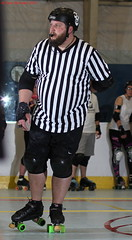 IMG_8395 crop 1 (KORfan) Tags: rollerderby barbedwirebetties cabinfeverscrimmage referees officials