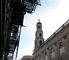 The fire escapes and the Lady (*CA*) Tags: nyc greenwichvillage ourladyofpompeiichurch fireescapes