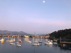 The moon at the evening start to shining on the ships and on the water. iPhone X. No edit. (silvergold84) Tags: qualità miglior quality thebest apple shotoniphone serale serape sera evening natura nature originale original nofiltri nomodifiche nofilter noedit ten 10 x iphone città city navi ships rosa azzurro pink blu sea mare cielo sky splende shining luna moon porto port europa europe italy liguria sestrilevante