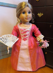 4. Waiting for Felicity (Foxy Belle) Tags: ag american girl elizabeth historical doll felicity friend 18 inch revolutionary 18th century clothes press furniture colonial